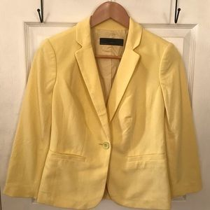 The Limited / Yellow One Button Lined Blazer